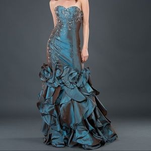 Jovani Strapless Mermaid Gown